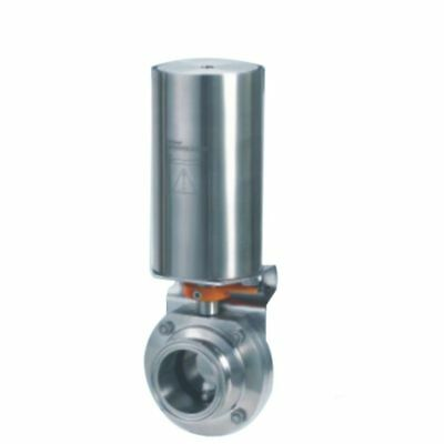 """1.5"""" Triclamp Sanitary butterfly valve pneumatic actuator single-acting,SS304"""