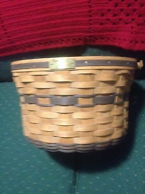 Longaberger 1985 J W Apple  Basket- New -Just Out Of Storeage ..factory Quality