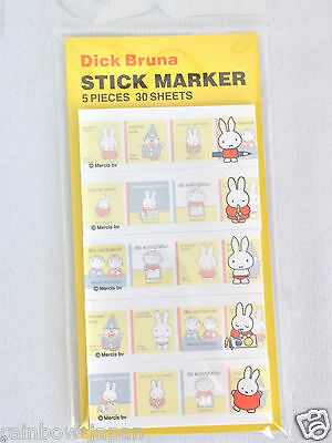 Miffy Stick Marker 5 Pieces 30 Sheets B Sticker Notes Post It Bookmark Japan