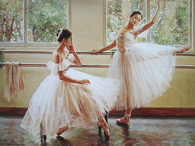 Home Decor print Abstract oil painting art canvas (No stretch) ballet dance RWT2