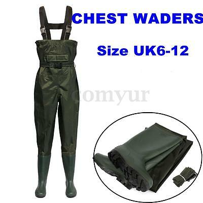 Nylon Muck Chest Waders Boot Waterproof Green Fly Coarse Fish Fishing With Belt