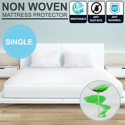Single Bed Non Woven Fitted Waterproof & Anti-Allergy Mattress Protector Cover