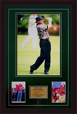 Greg Norman 'The Shark' Golf Framed Signed Photo Collage