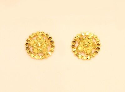 18k solid gold  earring # 83