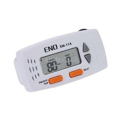 ENO EM-11 Clip-on 2-in-1 Mini Electronic Metronome & Clock Multifunction T6X1