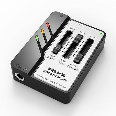 NUX Pocket Port Guitar USB Audio Interface compatible with WINDOWS & MAC V1H4