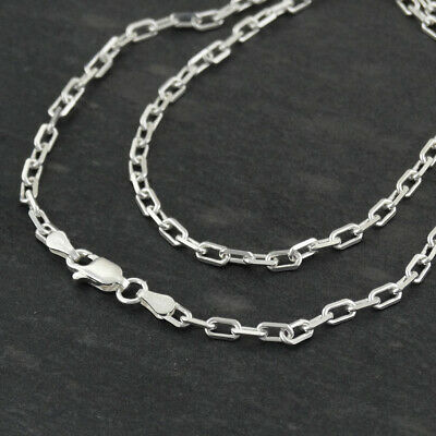 "Sterling Silver 3.1mm ANCHOR Link Chain Necklace 16"" - 30"" Italian 925 NEW"