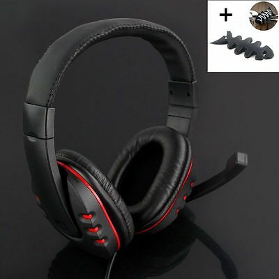 Wired USB Game Stereo Headset Headphones With Mic Noise Canceling For PS3 gift