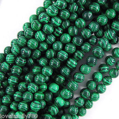 "6mm smooth green malachite round loose Beads 15"" /1 Strands"