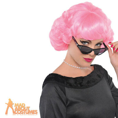 Adult Frenchy Wig Grease 1950s Frenchie Pink Ladies Fancy Dress Accessory New