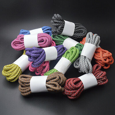 Round Reflective Shoe Laces 3M Sneakers Shoelaces Athletic Sports Rope Laces