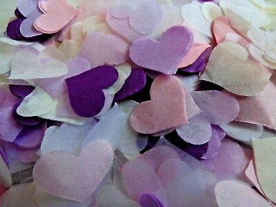 1600 Lilac/Pink /Purple/ White/ Cream Tissue Hearts/Wedding Confetti Decoration
