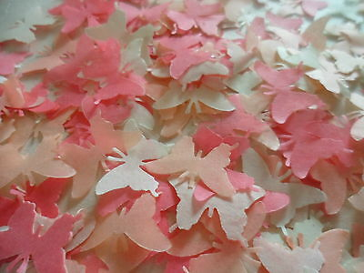 500 Peach/Coral/Cream Tissue Butterfly Wedding Confetti/Celebration Decoration