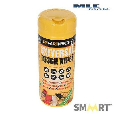 Smaart Universal Tough Wipes 40pk home workshop garden degreaser 354794