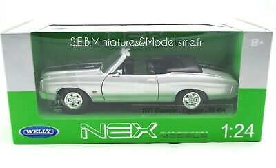 Chevrolet Chevelle Ss 454 Cabriolet 1971 1:24 Welly