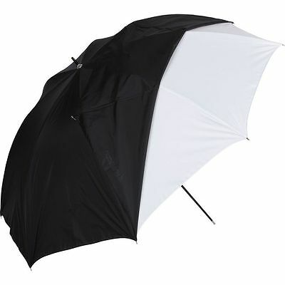 """Westcott Umbrella - White Satin with Removable Black Cover - 32"""" 2012"""