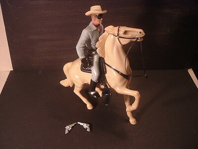 1960's Lone Ranger Hartland Statue & Horse Leg Up Version Complete 800 Series