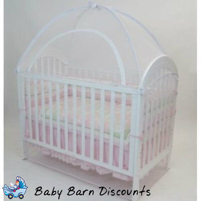 Cot Canopy Net-Babyhood - Large: 135 x 80 - White