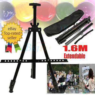 1.6M Artist Field Studio Painting Easel Tripod Display Stand White Board Sign UK