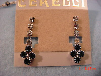 New Cerelli  Rhinestone  Necklace & Earring Set