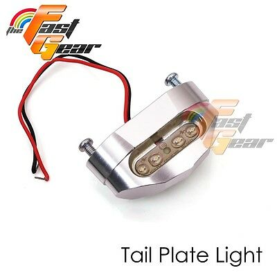 Fit Universal Motorcycle  Rear Silver LED Tail Tidy number Plate Bracket Light