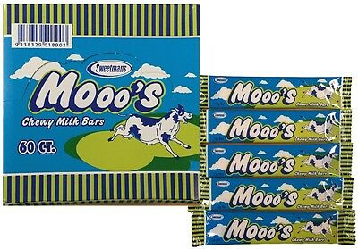 BULK LOLLIES x  60 MOOO'S CHEWY MILK BARS SOFT CHEW PARTY FAVORS CANDY BUFFET