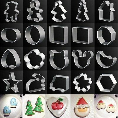 Metal Aluminum Biscuit Pastry Cookie Cutter Sugar Cake Decor Baking Mould Tool