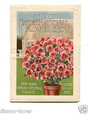 Vintage Garden Booklet 3RD INTERNATIONAL FLOWER SHOW NY Grand Central Term 1913