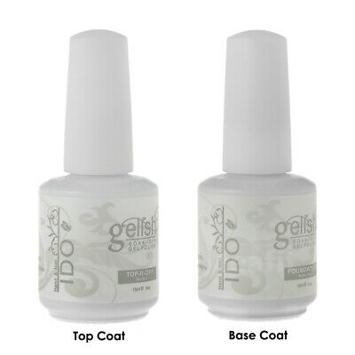 15ml Base Foundation & Top It Off Coat Soak Off UV Nail Gel Polish GELISH I DO