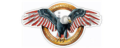 2x USA Independence Bald Eagle Sticker Decal Patriots America Strength Freedom