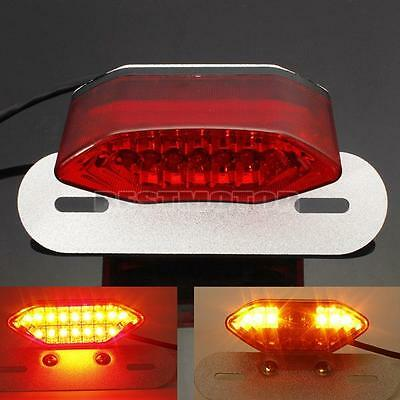 RED LED MOTORCYCLE/BIKE REAR/TAIL LIGHT Turn SIGNAL BRAKE/STOP License PLATE