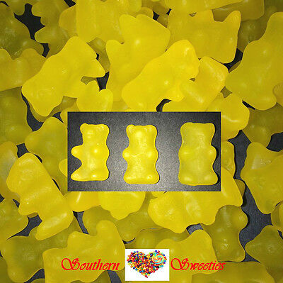 HONEY BEARS 1KG YELLOW LOLLIES GUMMIES Gummy Candy Buffet Bulk Lollies