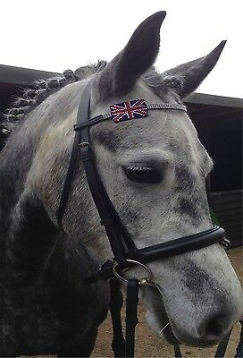 New Wholesale Job Lot Black Leather Diamante Browband In Mix Of Sizes & Styles