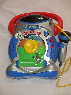 Rare Leap Frog Learning Screen Karaoke With Microphone Educational Toy Childrens