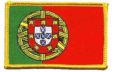 Portugal Flag Embroidered Iron On Patch
