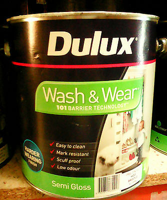 Dulux Paint Wash &wear 4L Semi Gloss Interior Pre-Tinted Hog Bristle Can Freight