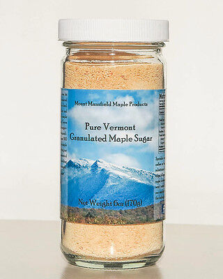 6oz Jar Pure Maple Granulated Sugar- 100% Pure Maple