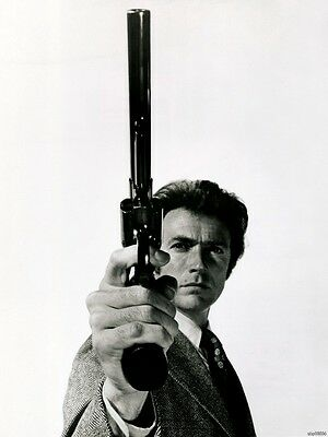 A3/a4 Size - Clint Eastwood Dirty Harry Wall Decor / Gift Art Print  Poster # 2