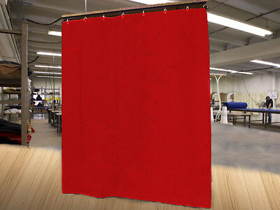 Economy Red Curtain Panel/Partition, 8 H x 4½ W, Non-FR