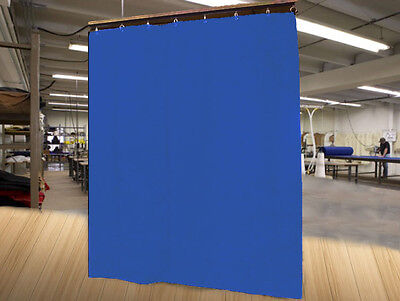 Economy Royal Blue Curtain Panel/Partition, 10 H x 4½ W, Non-FR