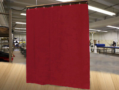 Economy Burgundy Curtain Panel/Partition, 10 H x 4½ W, Non-FR