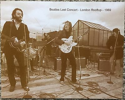The Beatles Last Concert On A London Rooftop 1969 Sepia Poster