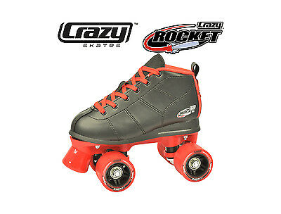 Gen4 Crazy Rocket Junior Kids Recreational Roller Skates - Black & Red Size 33
