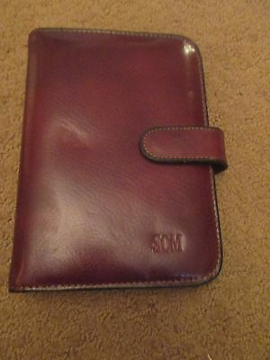 Fantastic Bosca Leather Daily Planner Organizer Phonebook Lqqk!!