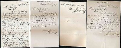 USA 1878-79 LETTERS JOHN WEST to CHR.PIKE re LAND IOWA etc...CHICAGO WABASH AVE
