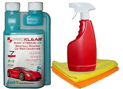 PROKLEAR™ RAW Xtreme CX Rinseless / Waterless Car Wash and Wax Concentrate