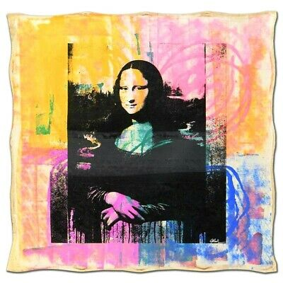 GAIL RODGERS/MONA LISA-One-of-a-Kind Hand-Pulled Silkscreen and Acrylic Painting