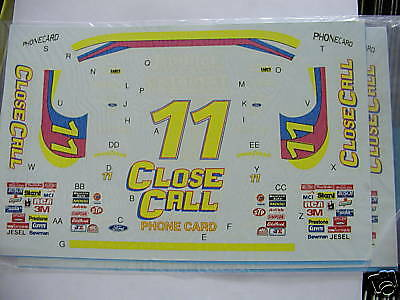 #11 Close Call T-Bird Brett Bodine decals