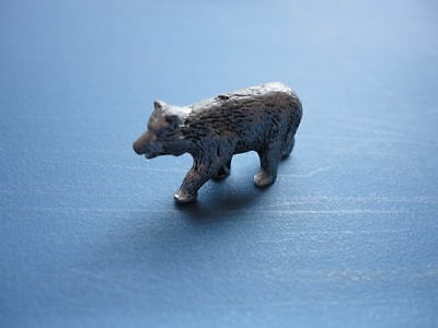Vintage miniature handcrafted pewter Bear Walking
