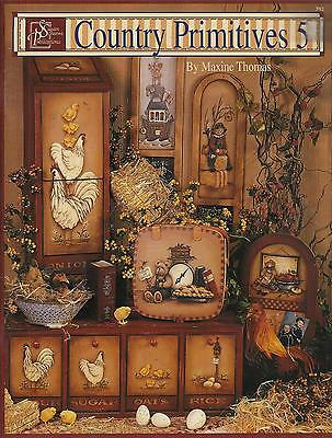 Country Primitives Tole Folk Art Painting Book 5 - Maxine Thomas